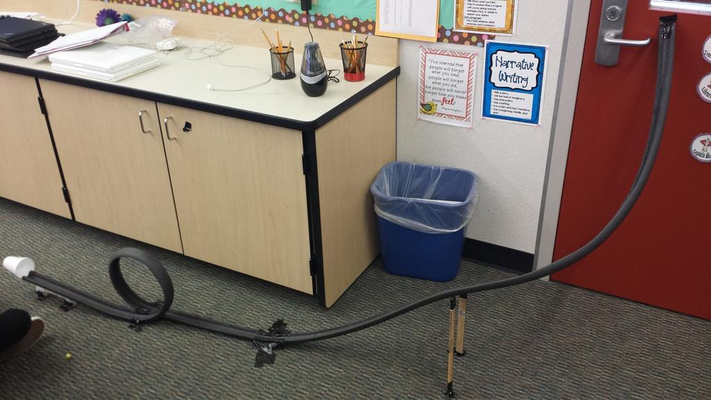 Potential and kinetic energy with marble roller coasters. #camlearns #camfam410 http://t.co/jEMMnrGDdK