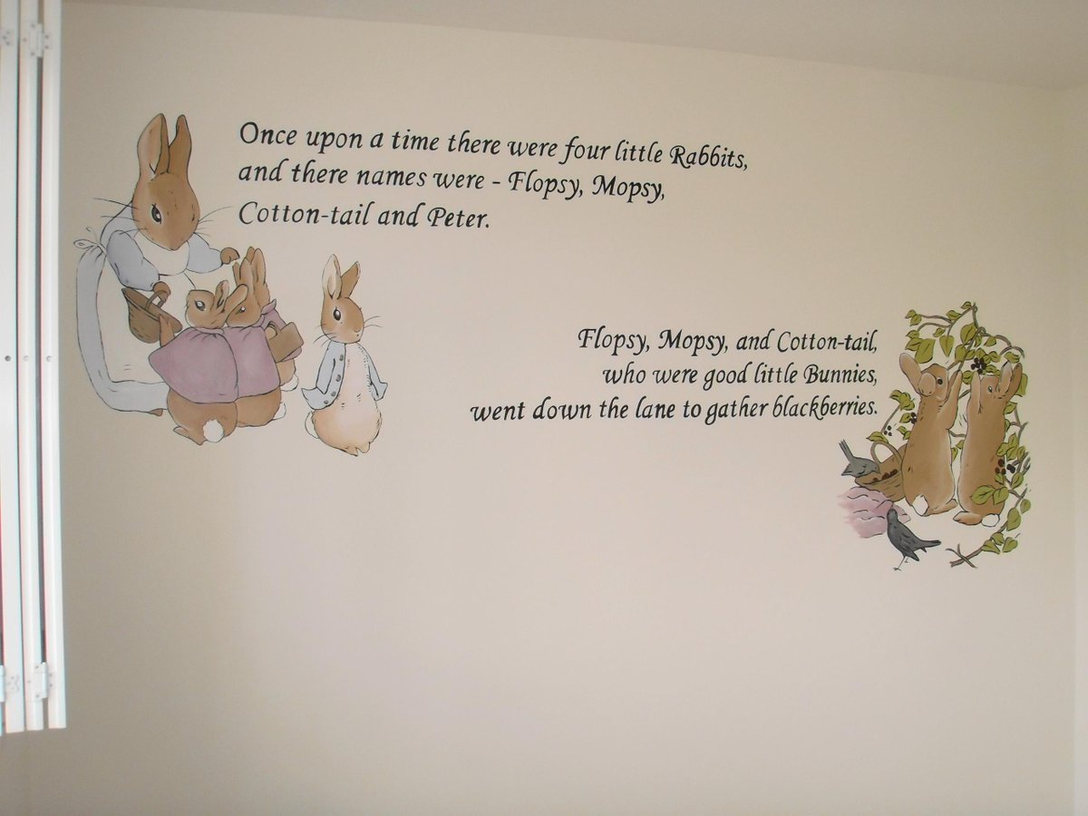 Peter Rabbit Nursery Custom Murals Part 88