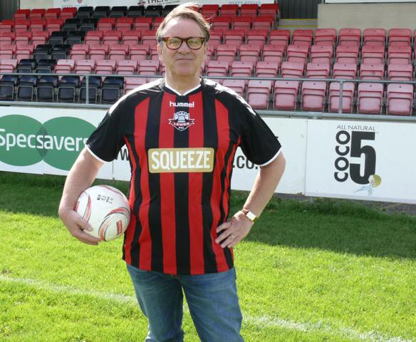 The new @Lewes_cfc home shirt sponsor announced this morning as Squeeze. As in the band, not an invitation to treat http://t.co/SdIrkzU6fi