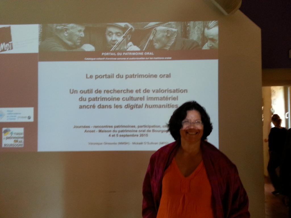 Véronique Ginouvès, responsable de la phonotèque de la Maison du Patrimoine Oral des S.H. #rencontresPCIanost http://t.co/oqlV6s5Mqr