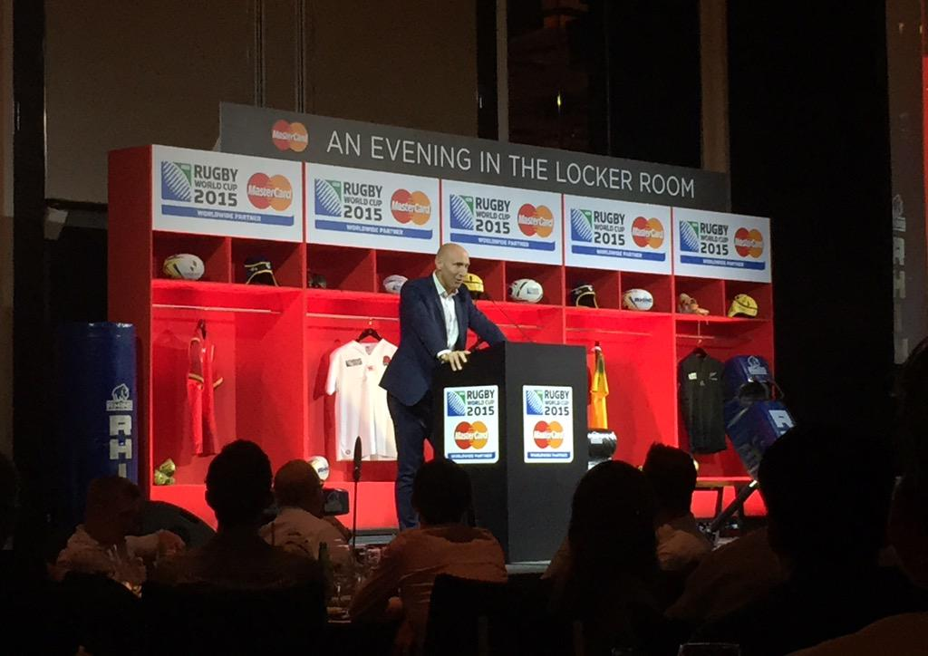 Happening Now: An Evening in the Locker Room with #MasterCard! Tom Shanklin shares anecdotes of his time on the pitch http://t.co/sAut6JFevd