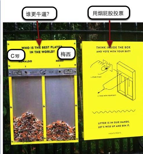 如何让烟民把烟屁股乖乖扔进垃圾桶?想出这招的真是天才。 http://t.co/KlG2FK6JzY