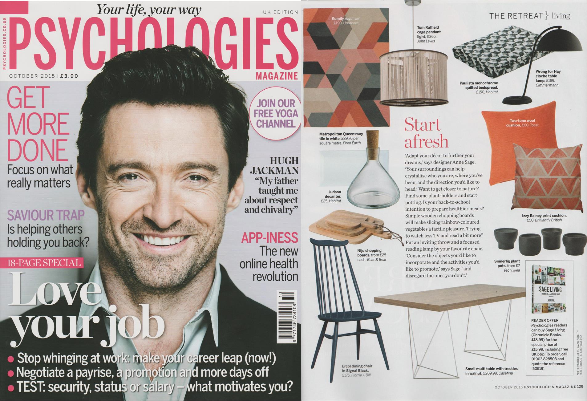 RT @Peachy_PR: Saying 'Hi' to @florrieandbill's lush Ercol chair in the latest @PsychologiesMag - we love the theme on this page! http://t.…