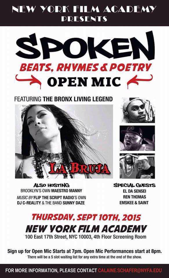 Open Mic at the New York Film Academy FREE http://t.co/Np6OW0qYIB