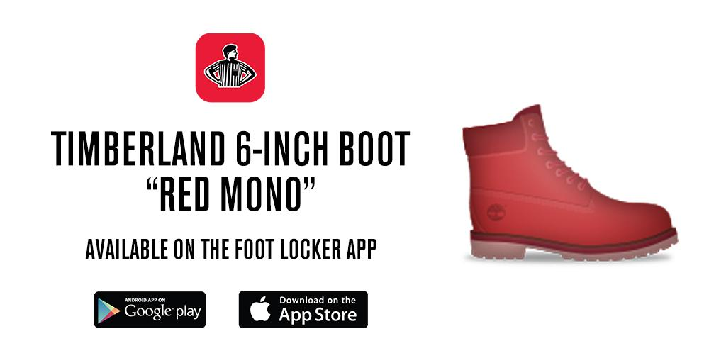 """Foot Locker on Twitter: """"The Red Mono @Timberland 6-Inch ..."""