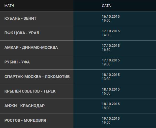 Матчи ЦСКА — «Локомотив» и «Спартак» — «Зенит» состоятся 26 сентября