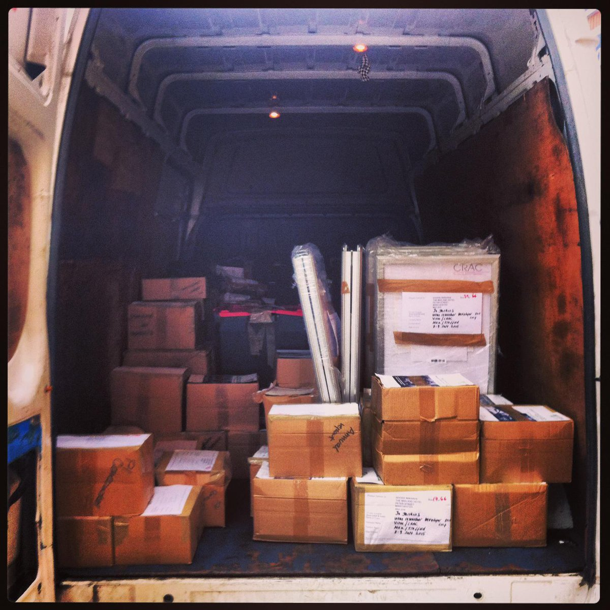 Truck-load of materials including NEW publications has left the building & is on its way to #vitae15 conf! Hurrah! :) http://t.co/9dba0taOOp