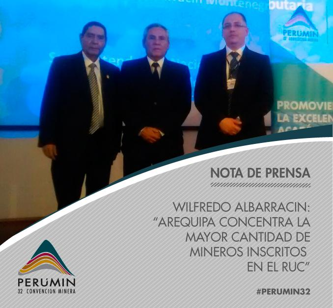 "Thumbnail for ¡Wilfredo Albarracin dictó conferencia magistral en ""Rumbo a PERUMIN""!"