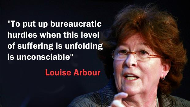 TOMORROW - Louise Arbour has some choice words for the government and its handling of the Syrian refugee crisis: http://t.co/EeXRv9WaSm