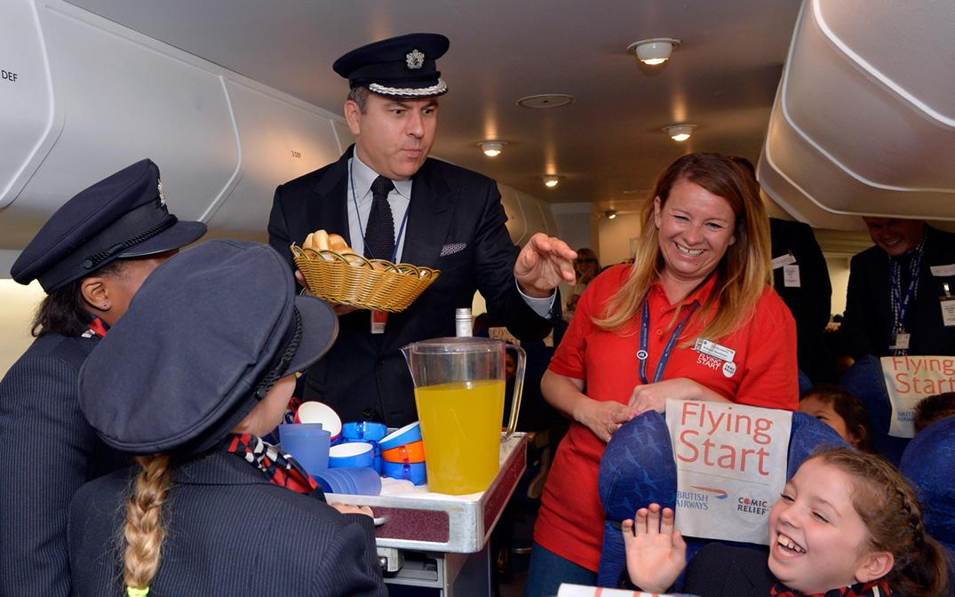 I visited @British_Airways today with @ComicRelief to help launch their fantastic #Flyingstart Education campaign http://t.co/944VuYkfLQ