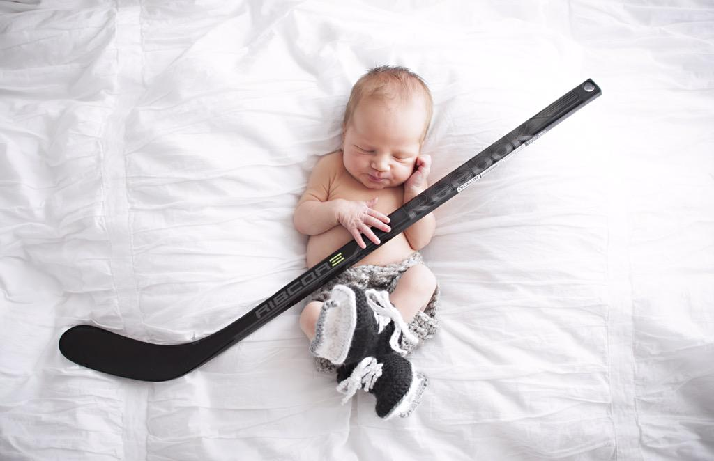 Little man is ready for hockey to start! @CCMHockey, can we get this guy signed up? http://t.co/lrLPXQetB7