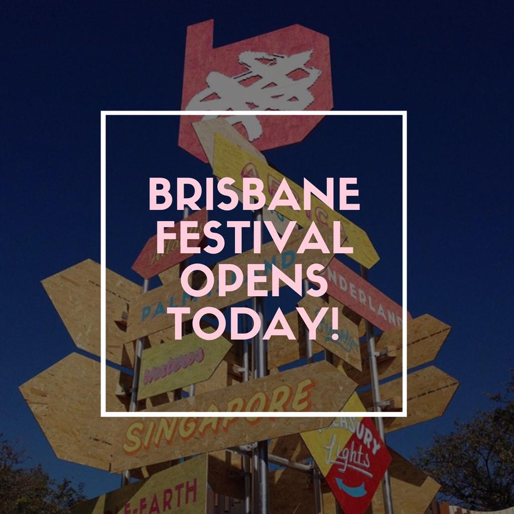 Drum Roll please... Brisbane Festival opens today for 3 weeks of mind-blowing entertainment! http://t.co/kZTgWjaOvM http://t.co/UXC1YpQYXu
