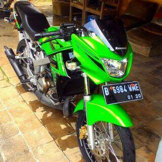 contoh ninja r hijau