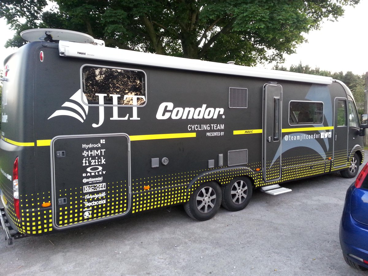 Very excited about the @TourofBritain .Not so much about the route, more because of the flash new camper! Cheers JLT! http://t.co/7GnX6I6T1Y