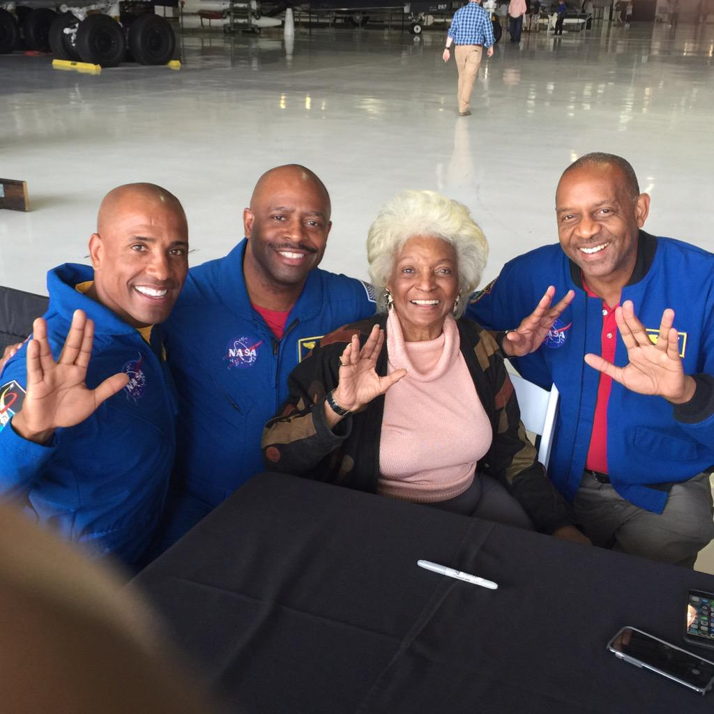 Thank you @NichelleIsUhura for being the inspirational Queen of Space. Live long n prosper.
