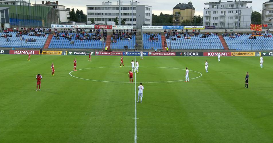 Luxemborg vs. Macedonia shortly before kick-off