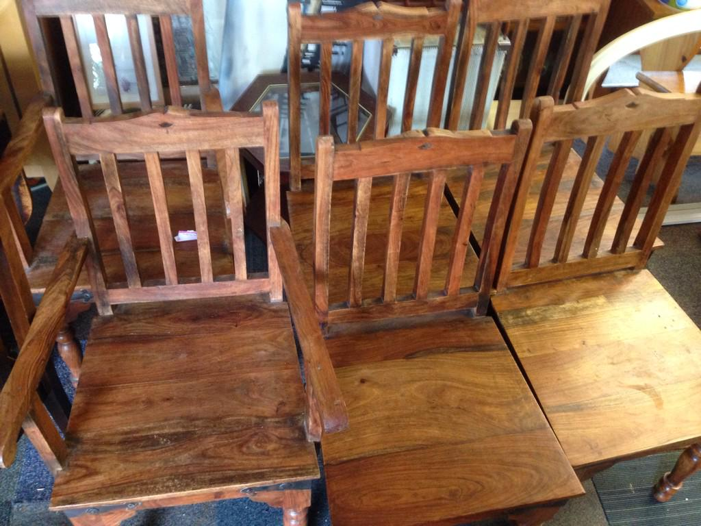 s on Twitter Indian Rubber Wood Chairs 2 are Carvers Chair