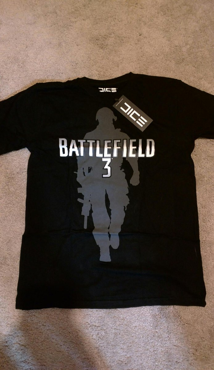 Going through the archives we found a brand new, never worn #BF3 shirt from the @EA_DICE store. Size Large. RT to win http://t.co/44MkvdeasV