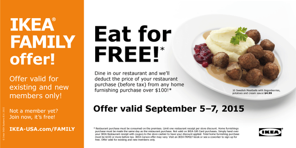 Ikea Covina On Twitter Ikea Family Members Eat For Free This