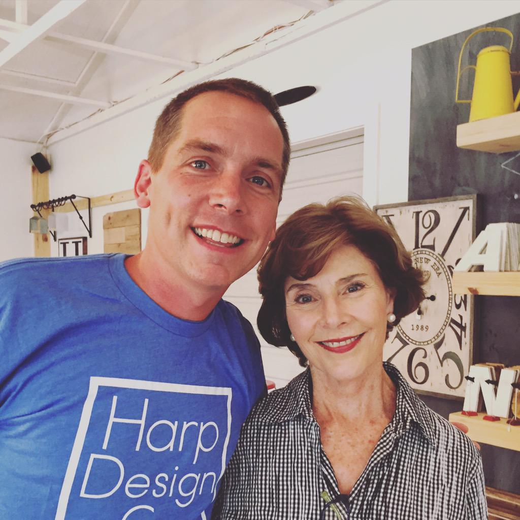 Clint harp on twitter when a flotus stops by u turn off for Is clint harp still on fixer upper