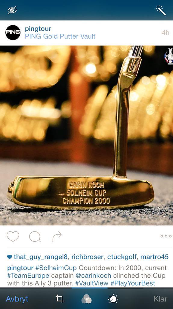 Carin Hjalmarsson Koch On Twitter Nice Post Instagram Today From PingTour Greatmemories LochLomond SolheimCup2015 SolheimCupEuro LETgolf