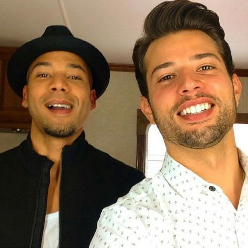 Photo of Rafael de La Fuente & his friend actor  Jussie Smollett - casting Empire