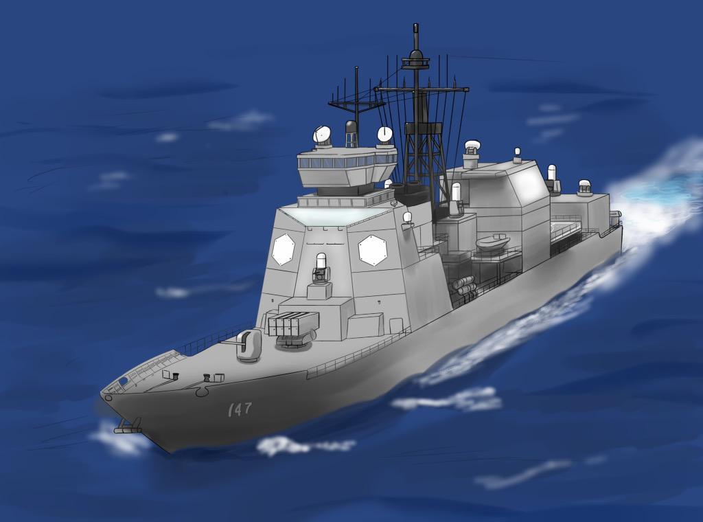 天津毬 On Twitter At 0463zero4063 そういやあいづ型護衛艦の艦首は