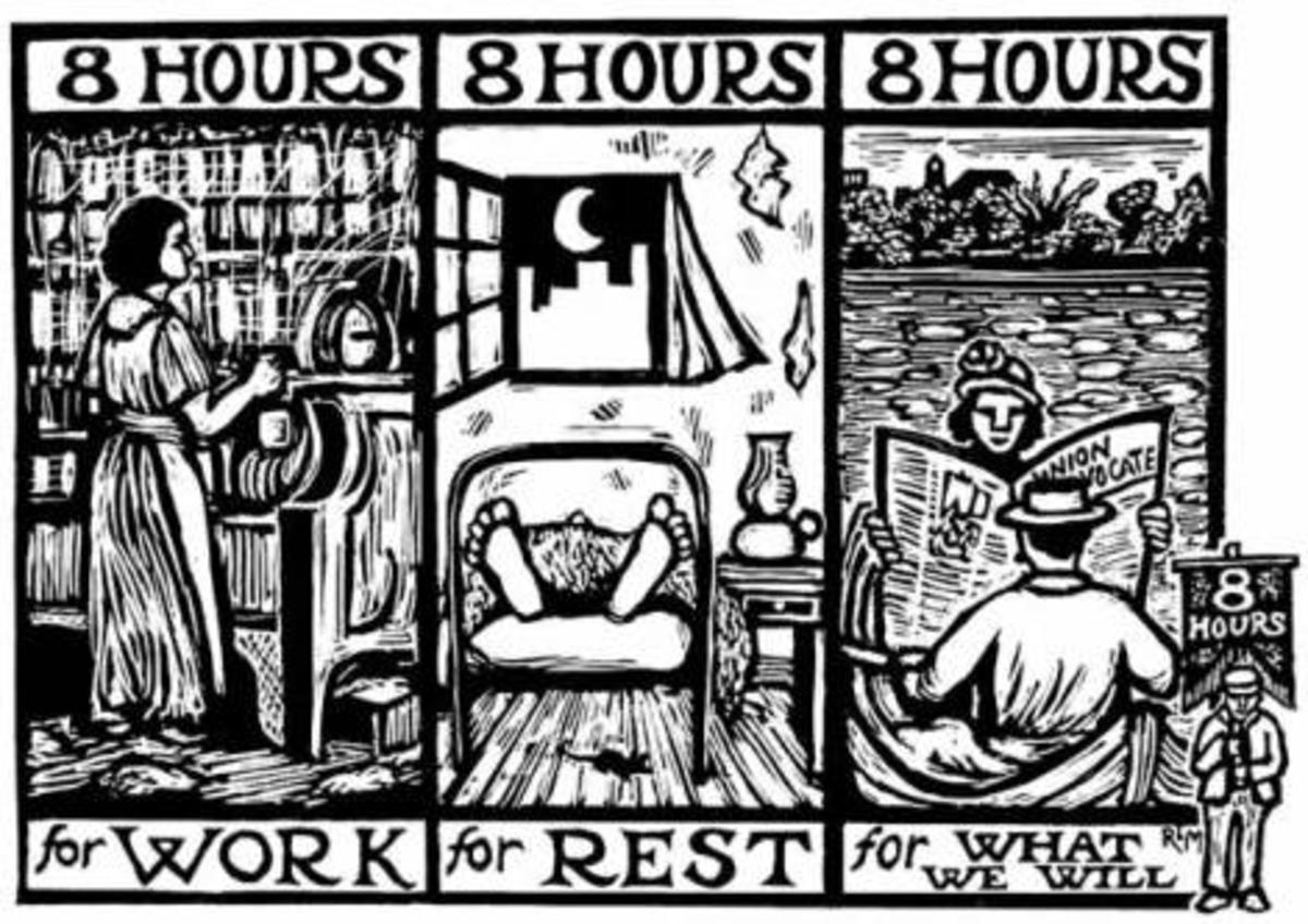 Sisters, brothers, attend the union's call:   8 hours for work,  8 hours for rest,  8 hours for WHAT WE WILL http://t.co/VUb94qQarV