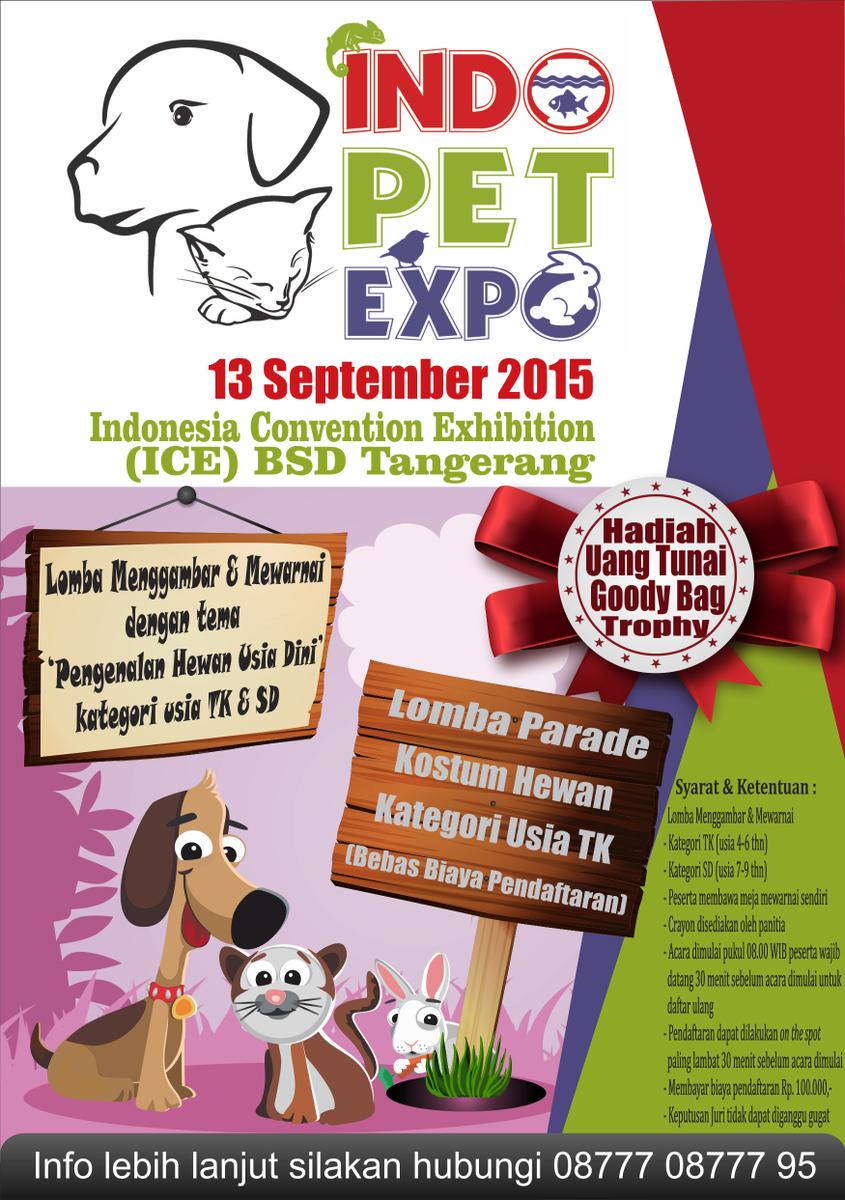 Indo Pet Expo On Twitter Khusus Anak Usia Tk Sd Bisa Mengikuti
