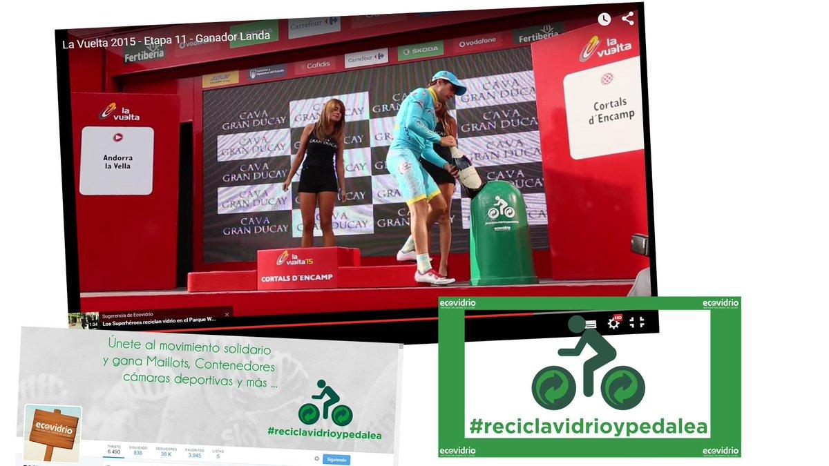 Última etapa de #lavuelta y seguimos ayudando para que el H.parapléjicos tengan handbikes #ReciclaVidrioYPedalea http://t.co/QXrZgN2aj6