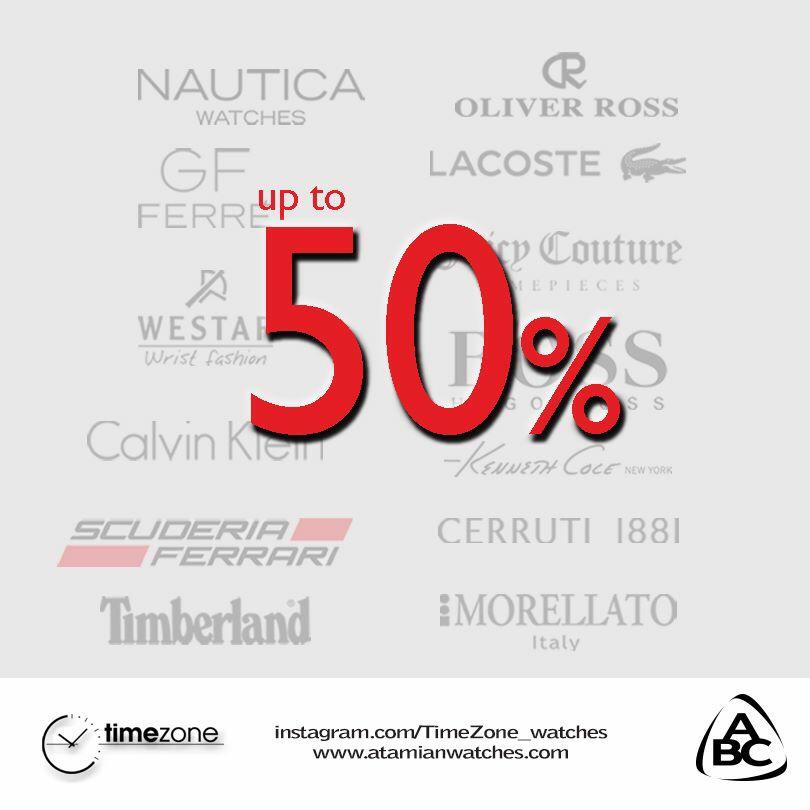 Up to 50% discount on your favorite fashion watches at TimeZone. Till September 15. For more info: 01-256655. http://t.co/SF02jtGfGE