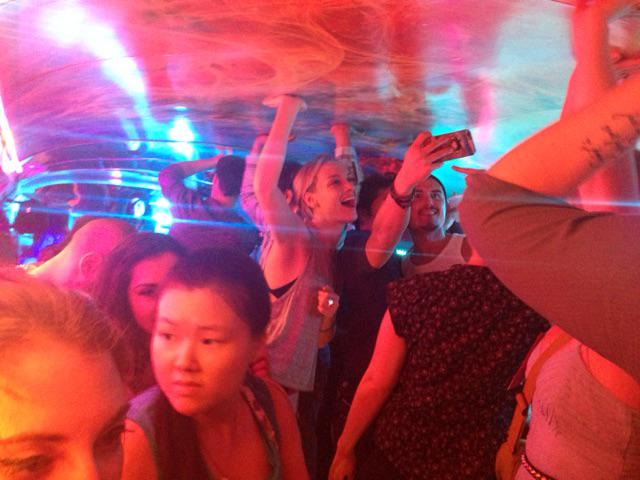 This is what happens @DragonCon. Hopped a random party bus with @RachieSkarsten & @PaulRogerAmos at 1:30am. http://t.co/79K3kmSWBU