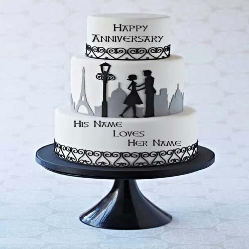 Mynamepixs On Twitter Write Name On Couple Anniversary Cake Online