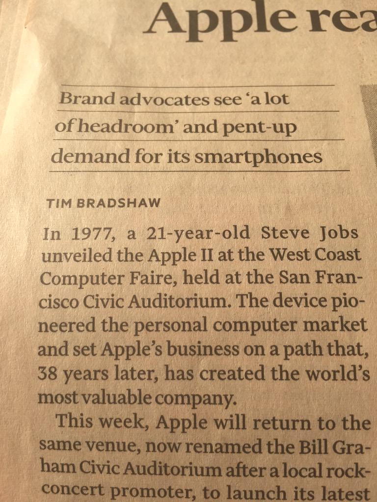 He was just 21 in 1977, I was 13, he was the son of a Syrian immigrant @FT #stevejobs #RefugeesNotMigrants http://t.co/jF8kctRKHV