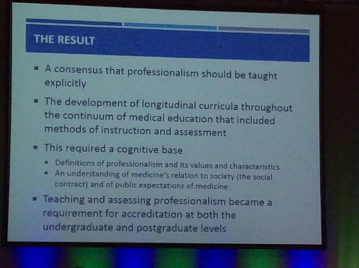 Role modelling isn't working and growing consensus that we need to explicitly teach professionalism #amee2015 http://t.co/Oq5C5HMDhS