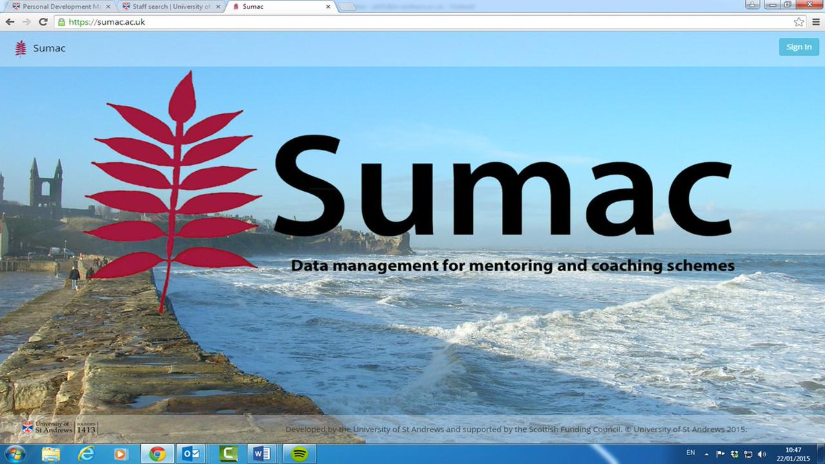 SUMAC mentoring & coaching platform - on its way to the Vitae conference Sept 8-9 #Vitae15 @Vitae_news http://t.co/a2ASXtPFSb