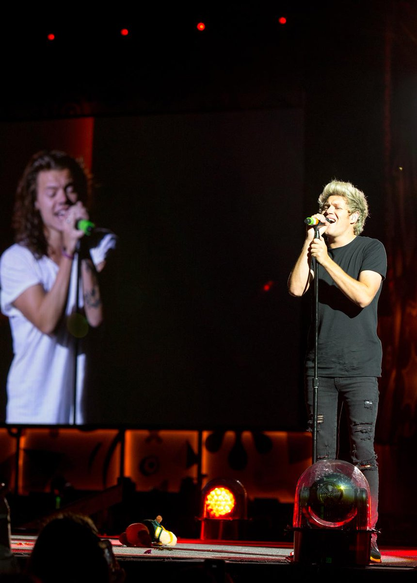 Niall and Harry killing the harmonies in Milwaukee. #HondaCivicTour © One Direction/Cal Aurand
