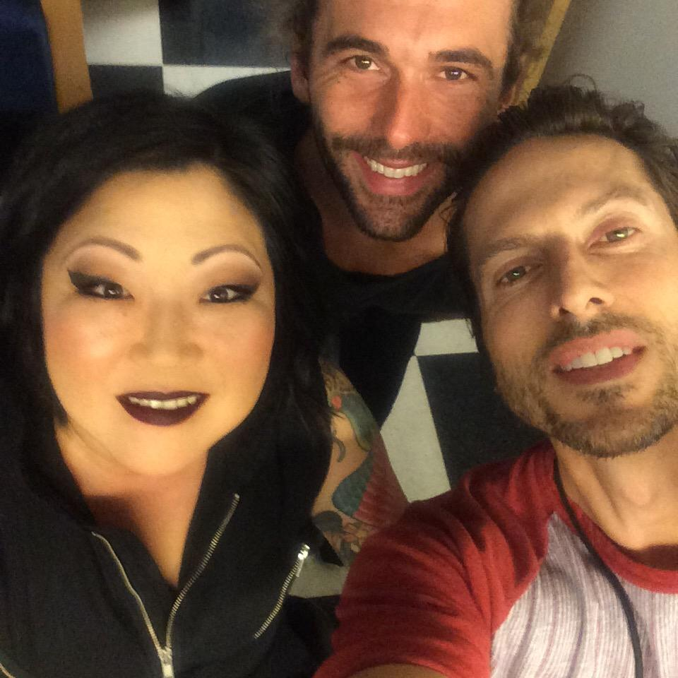 #BTS at FP with @thegayofthrones and  @margaretcho -she back and wearing Nightmoth and new MAC matte liquid lipstick http://t.co/7JbJh6Bbxo