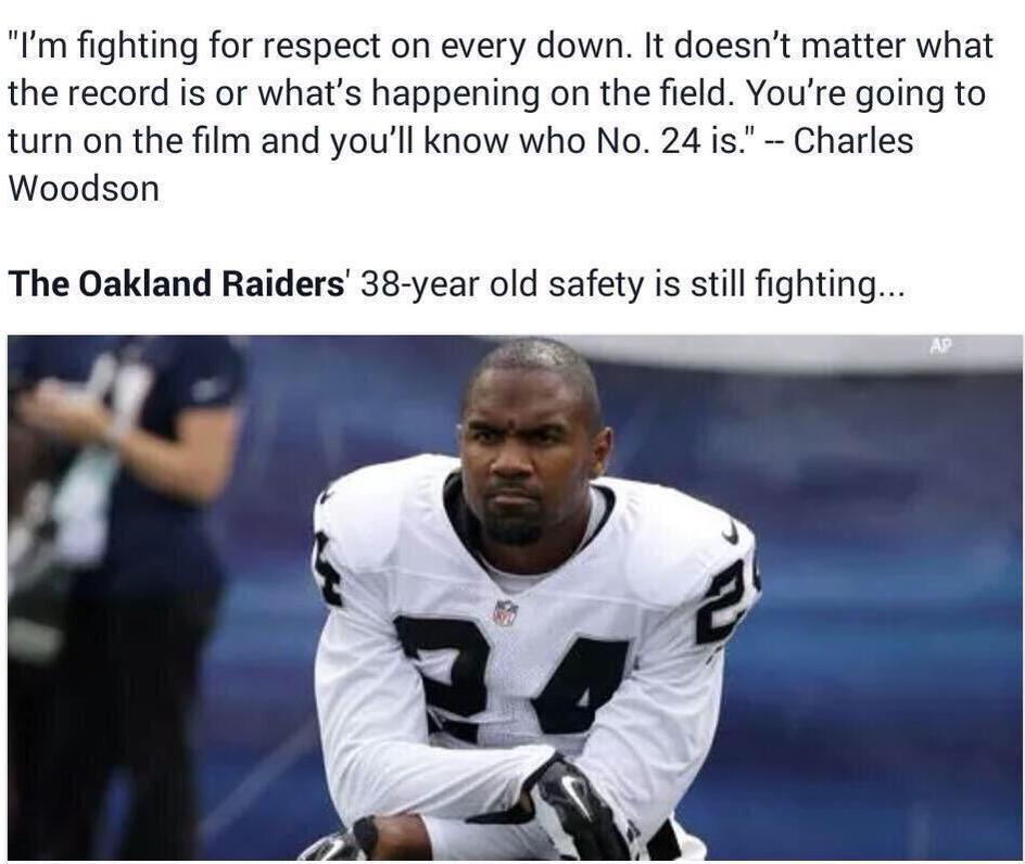 #MondayMotivation from one of the greats @CwoodsonF of the @RAIDERS http://t.co/n2moBUat4n