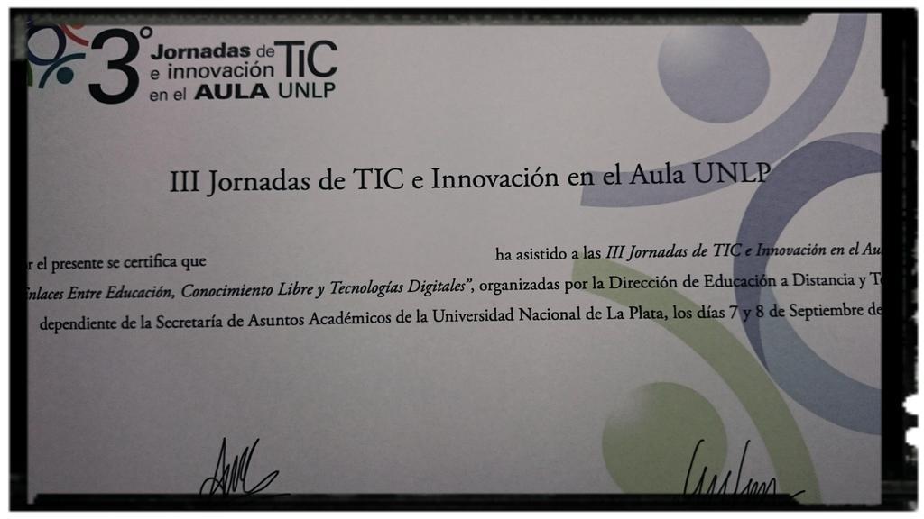 Certificados de las Jornadas #EaDUNLP @mmercedesmar @MarilinaPeralta @Anita_ines23 @alehgonzalez @claudiojjaime http://t.co/shi1r0TacQ