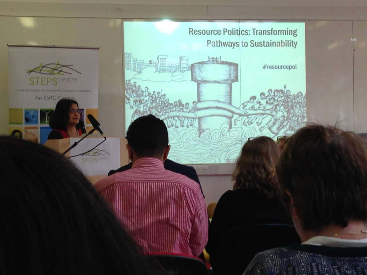 Lyla Mehta on the need for new conceptual perspectives for resource politics & sustainability #resourcepol http://t.co/2LtuFfkFts