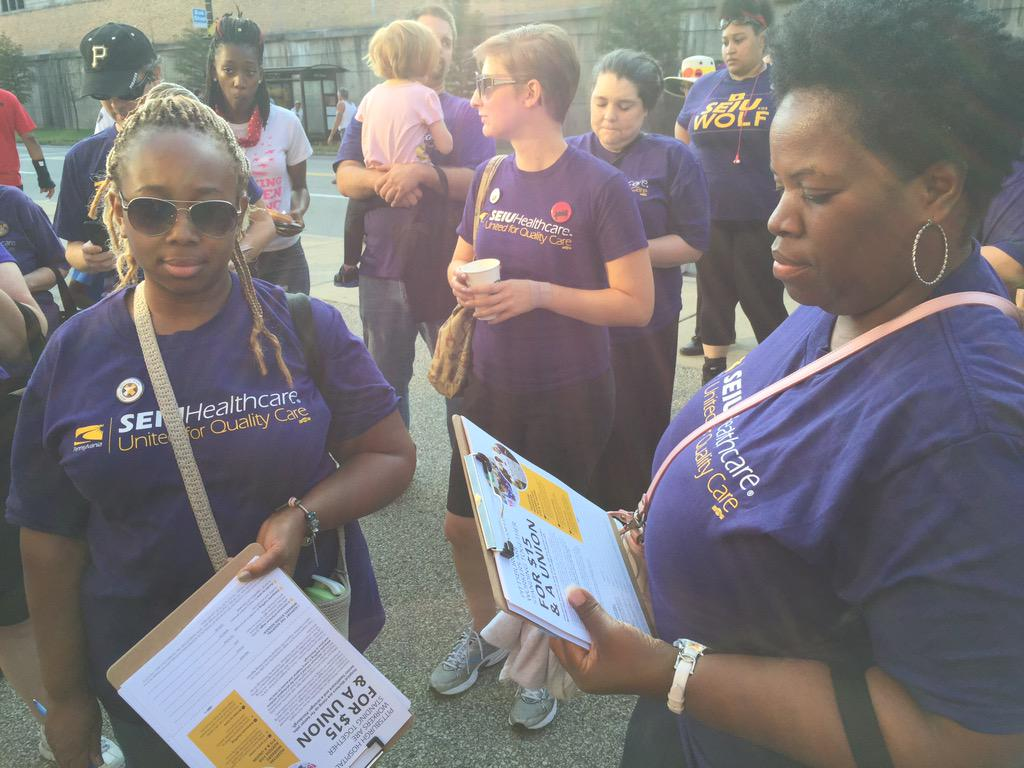 Hospital Workers this #LaborDay are asking pgh to sign on to our agenda for Pittsburgh. #FightFor15 http://t.co/rrNGRcLsvJ