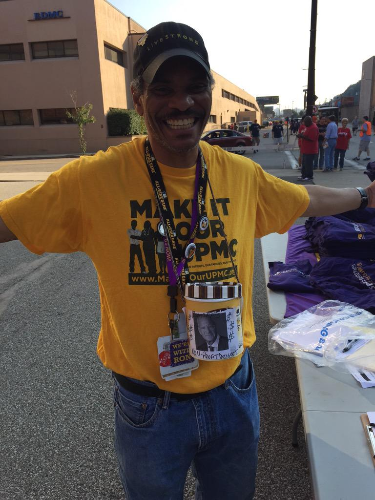 James Threatt from UPMC Shadyside is talking to folks about why every hospital worker should have a voice. #laborday http://t.co/6uvQ6wTwKa