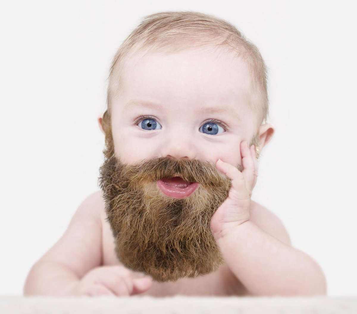 ... was right! Babies with beards are cute! http://t.co/B0aW45ifJQ