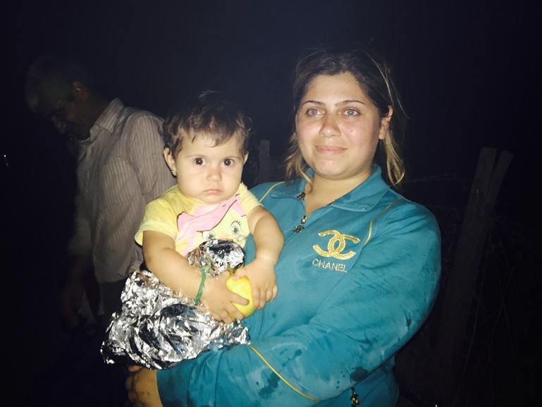 It's this little's girl birthday. She is 1. She spent it crossing to Lesvos. #refugeecrisis http://t.co/1zpI7NunN6