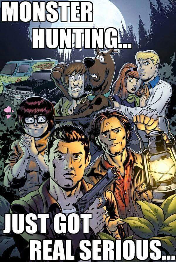 Image result for spn scooby doo crossover
