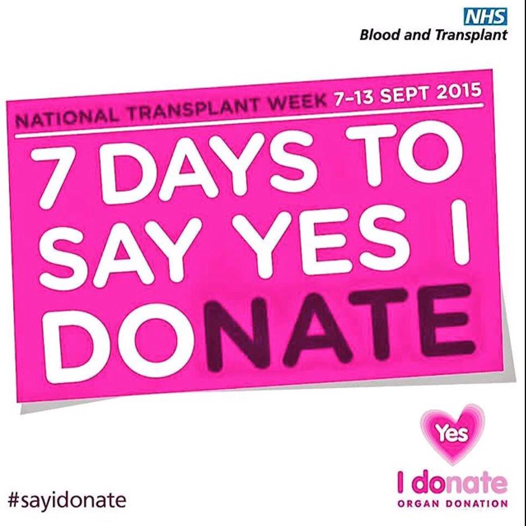 It's #NationalTransplantWeek please consider signing the donor list. I wouldn't be here without my donor http://t.co/Rpp5EAocIE
