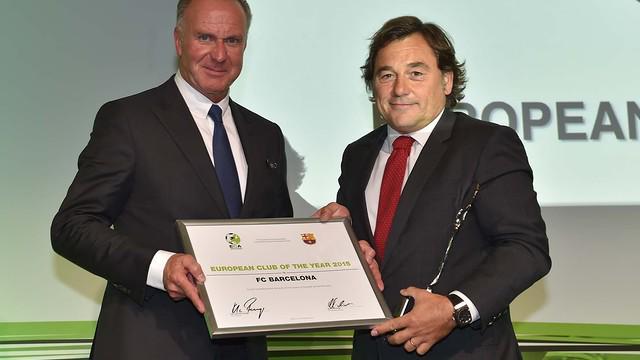 Barcelona Win ECA Club Of The Year Award