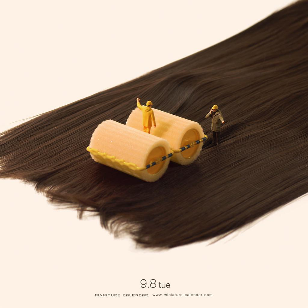 9.8 tue「時間も髪も巻いていこう!」#カーラー #ロードローラー pic.twitter.com/zPYsowqaIt
