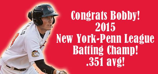 ALSO, Congrats to @bobbywernes, your 2015 @nypennleague batting champ! Bobby finished the season with a .351 avg! http://t.co/VSnJ41yzZW